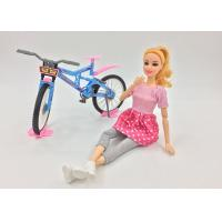 Buy cheap Fashion Doll Children's Play Toys with Bike and Helmet 11 Joints Movable Elbows from wholesalers