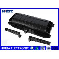 Buy cheap Horizontal Fiber Optic Splice Closure , Outdoor Fiber Enclosure Black Color product