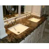 Dark Emperador Stained Marble Countertops Stone Vanity