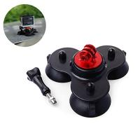 Buy cheap Removable Tri-Angle Suction Cup Mount, with CNC Aluminum Alloy Mount & Screw. Color: Blue, Red product