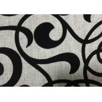 Buy cheap Grey Polyester Flocked Fabric Upholstery Home Textile 210GSM Weight from wholesalers