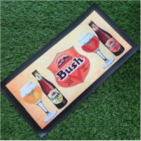 Buy cheap Custom Make Non-woven Fabrics Beer Mat / Bar Spill Mat With Logo Heat Transfer Printing from wholesalers