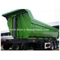 Buy cheap High strength steel Hydraulic Rear End Dump Semi Bed Trailer with U shaped Tipping Trailer from wholesalers