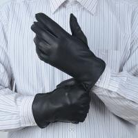 Buy cheap Soft leather gloves with Grade A deerskin leather Classical winter Men's genuine leather gloves from wholesalers