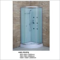 Buy cheap Aluminum Framed Fabric Glass Simple Shower Cabin  / Bathroom Shower Stalls from wholesalers