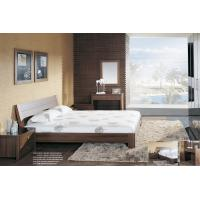 Buy cheap Walnut wooden Adult Single Bedroom Furniture Leather headboard Bed with Home from wholesalers