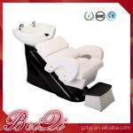 Buy cheap Hair shampoo station wholesale salon furniture luxury massage shampoo chair wash unit from wholesalers