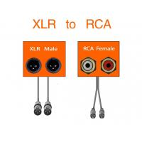 Buy cheap Dual XLR Female To RCA Link Cable Phono Plug HiFi Stereo Audio Connection from wholesalers