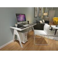 Buy cheap Most popular Tempered Glass Computer Desk With steel Legs for sales from wholesalers