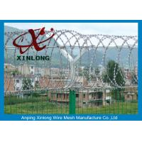 Buy cheap Professional Razor Blade Wire , Security Barbed Wire PVC Coated Steel from wholesalers