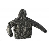 Buy cheap Men's leather single face jacket with detachable kinted hood from wholesalers