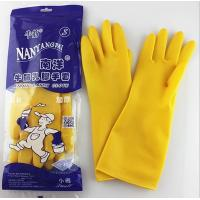 Buy cheap ISO/CE approved Colorful Flock lined latex household gloves/rubber kitchen cleaning glove from wholesalers