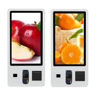 Buy cheap 32'' Self Service Touch Screen Order Payment Kiosk Thermal Printer And Qr Scanner from wholesalers