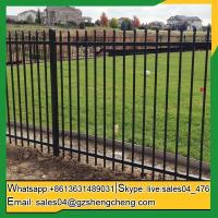 China Cervantes wrought iron fence spears modern tubular steel fence on sale