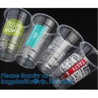 Buy cheap Food grade 12oz 375ml cold drink transparent biodegradebale PET disposable plastic cup/airline plastic drinking cup from wholesalers