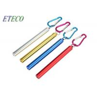 Buy cheap 10g Collapsible Stainless Steel Drinking Straw , Colorful Telescoping Reusable Straw from wholesalers