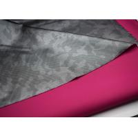 Buy cheap Outdoor Waterproof Softshell Fabric , Polyester Twill Fabric Printed Film product