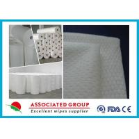 Buy cheap Extra Soft Hydrophilic White Spunlace Nonwoven Fabric No Chemical binder from Wholesalers