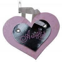 Buy cheap Double Heart Personalized Hang Tags Ribbon Closure For jewlery from wholesalers