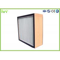 Buy cheap H10 - H14 HEPA Air Filter Deep Pleat Type Uniform Distribution Of Airflow from wholesalers