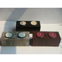 Buy cheap Antique Imitation Coloured Wooden Tealight Candle Holders For Drawing Room product