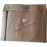 Kraft Paper Custom Printed Business Envelopes With String Closure Accordion Shape