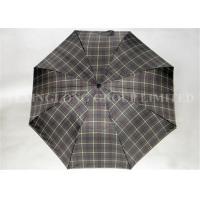 Creative Automatic J Handle Umbrella , Business Two Fold Umbrella Metal Tips