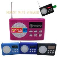 Buy cheap Plastic Mini Speaker with FM Radio #UK-306 from wholesalers