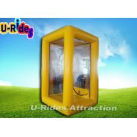 Buy cheap Customized Inflatable Cash Machine , Advertising Yellow Inflatable Money Booth from wholesalers
