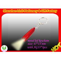 Quality promotion gift hi power LED flashlight Keychains OEM logo on the torch for sale