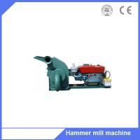 Buy cheap New tree branch biomass fuel plant use hammer grinder machine with 15hp diesel motor from wholesalers