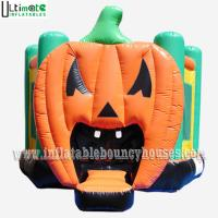 Buy cheap Halloween Inflatables Giant Pumpkin Kids Bounce House Double / Quadruple Stitching from wholesalers