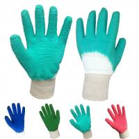 Industiral working latex coated gloves