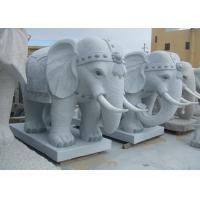 Buy cheap Light Grey Granite Garden Ornaments , Stone Elephant Garden Statue For Home Decor from wholesalers