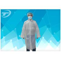 Buy cheap Waterproof  Disposable Visitor Coats PE With Different Size , Medical Protective Clothing from wholesalers