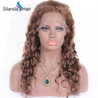 Buy cheap #30 Deep Curly Brazilian Remy Human Hair Lace Frontal Wig 6-32 from wholesalers