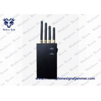 Buy cheap 4 Band 4W Portable GPS Jammer , Handheld  Black Cell Phone Signal Jammer product