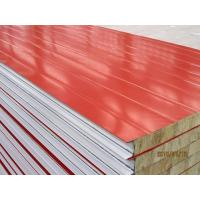 China Metal Rock Wool Sandwich Roof Panel Wall Panel / Rockwool Panel fire proof red and blue color on sale