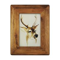 Buy cheap icheesday  Wood Picture Frame,Glass Front Wall Hanging Rustic Handmade Tabletop Photo Frames from wholesalers