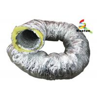 Buy cheap Aluminum Foil Insulated Fiberglass Insulated Flexible Ducting For Air Conditioning product