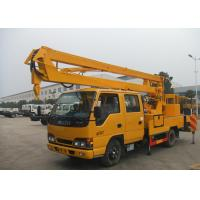 Buy cheap Light Duty Shear Fork Truck Mounted Aerial Platform 10M - 24M Working Height For ISUZU from wholesalers