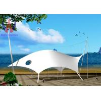 Buy cheap Polyester Yarn Tensile Fabric Structures Buildings For Beach Knock Down Type from Wholesalers