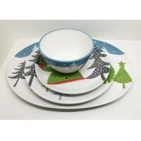 Buy cheap Ceramic Set of 4 Dinner Set, Platter, Dinner Plate and Salad Bowl for Christmas from wholesalers