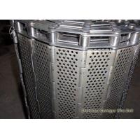 Buy cheap Stainless Steel Flat Plate Conveyor Belt Precise Punched Holeperforation Custom from wholesalers