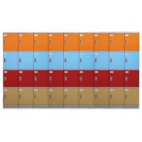 Buy cheap Various Color Plastic Gym Lockers , Swimming Pool Plastic School Lockers from wholesalers