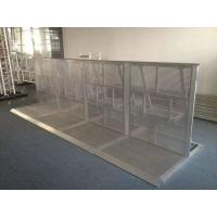 Buy cheap Safety Concert Crowd Control Barriers Silvery / Black Color Easy Assemble from wholesalers