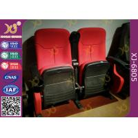 Buy cheap Dirty Proof Red Fabric Cinema Theater Chairs Seating With Foldable Seating Padding from wholesalers