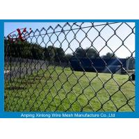 China Dark Green Chain Link Fence Applied Private Grounds / Transit / Road on sale