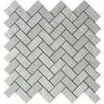 Buy cheap Grey marble mosaic tile herringbone 1x2 3D from wholesalers