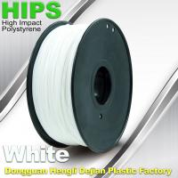 Buy cheap Custom White HIPS 3D Printer Filament 1.75mm / 3mm , Reusable 3D Printing Material from wholesalers